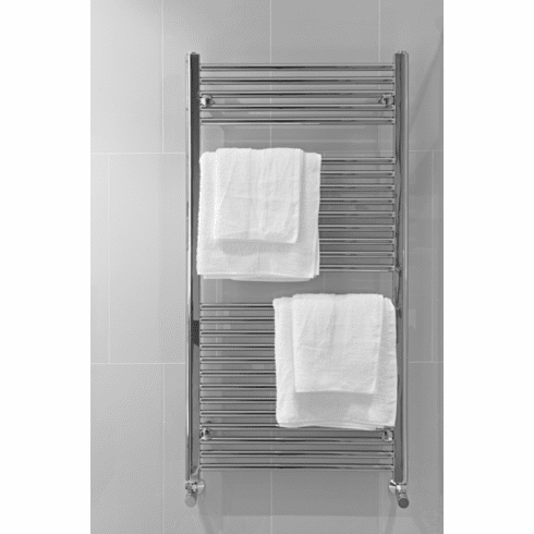"""Pensotti 24"""" x 72"""" Curved White Towel Bar Warmer"""