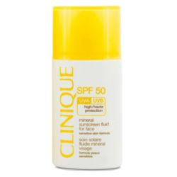Clinique Broad Spectrum SPF 50 Mineral Sunscreen Fluid for Face 1 oz / 30 ml