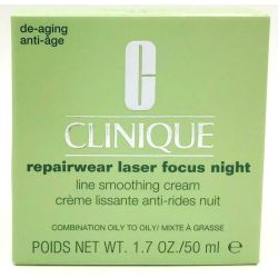 Clinique Repairwear Laser Focus Night Cream Combination Oily to Oily 1.7oz