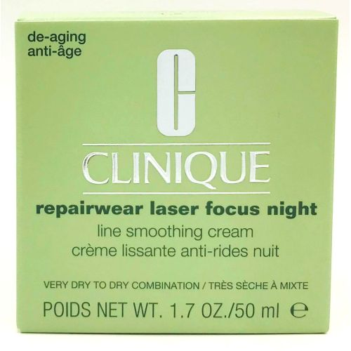 Clinique Repairwear Laser Focus Night Cream Very Dry to Dry Combination 1.7 oz