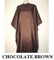 Water Repellent Shampoo/Cutting Capes - Chocolate Brown