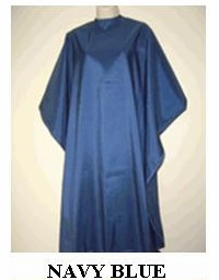 Water Repellent Shampoo/Cutting Capes - Navy Blue