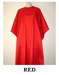Water Repellent Shampoo/Cutting Capes - Red