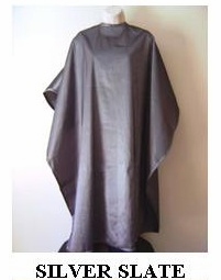 Water Repellent Shampoo/Cutting Capes - Silver Slate
