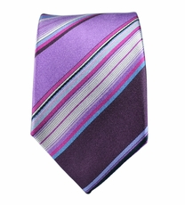 100% Silk Slim Tie by Paul Malone . Purple
