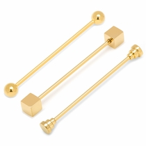 3 Piece Gold Stainless Steel Collar Bar Set