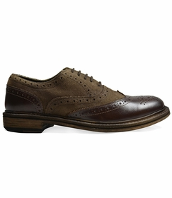 Antique Dark Brown Wing-Tips by Paul Malone