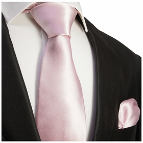 Solid Wisteria Necktie and Pocket Square Set (Q100-UU)