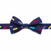 Batman Yellow Big Boys' Silk Bow Tie
