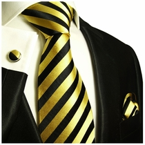 Black and Gold Powertie Set by Paul Malone
