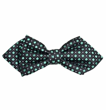 Black and Mint Silk Bow Tie by Paul Malone Red Line