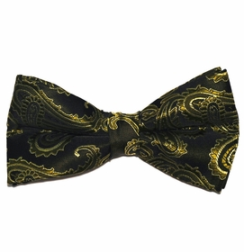 Black and Olive Paisley Bow Tie (BT20-W)
