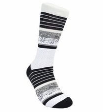 Black and White Cotton Dress Socks by Paul Malone