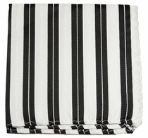 Black and White Silk Handkerchief (H302)