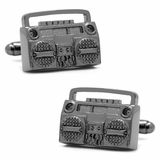 Black Retro Boombox Cufflinks
