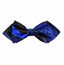 Blue and Black Silk Bow Tie by Paul Malone Red Line