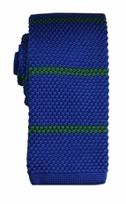 Blue and Green Striped Knit Tie by Paul Malone (KN675)