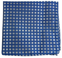 Blue and Silver Pocket Square (H321)