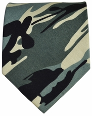 Camouflage Cotton Tie by Paul Malone Red Line