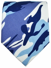 Blue Camouflage Cotton Tie by Paul Malone Red Line