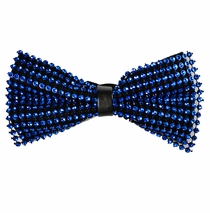 Blue Crystal Bow Tie