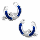 Blue Horseshoe Cufflinks