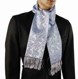 Blue Paisley Mens Fashion Scarf (SC276-F)