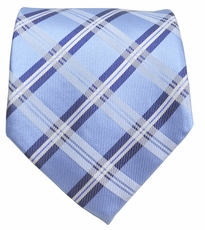 Blue Paul Malone Silk Necktie, 100% Silk (957)