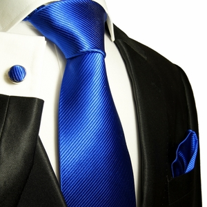 Blue Paul Malone Silk Tie Set (349CH)