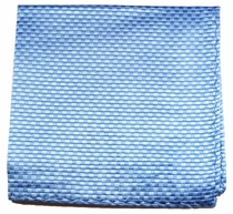 Blue Silk Mens Pocket Square (H502)