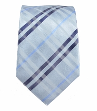 Blue Slim Silk Tie by Paul Malone