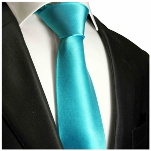 Blue Turquoise Silk Tie by Paul Malone