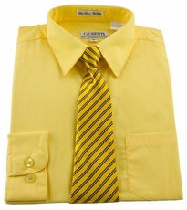 Boys Shirt and Tie Combination . Banana (BST117)