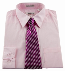 Boys Shirt and Tie Combination . Pink (BST109)