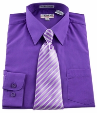 Boys Shirt and Tie Combination . Purple (BST115)