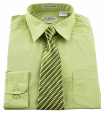 Boys Shirt and Tie Combination . Sage (BST103)