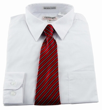 Boys shirt and Tie Combination . White (BST108)