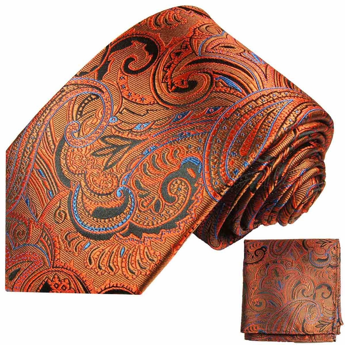 ed44809b0834a Bronze Mens Tie and Pocket Square