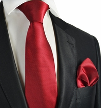 Burgundy Tie and Pocket Square