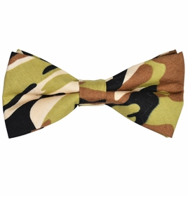 Camouflage Cotton Bow Tie by Paul Malone Red Line
