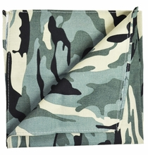 Camouflage Cotton Pocket Square by Paul Malone