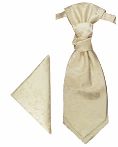Champagne Cravat Set with Pocket Square (PLV18H)