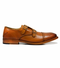 Classic Monk Strap in Beige with Two Buckles by Paul Malone