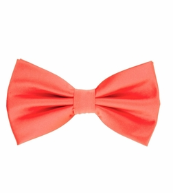 Coral Bow Tie and Pocket Square Set (BT100-FF)