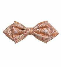 Coral Paisley Silk Bow Tie by Paul Malone Red Line