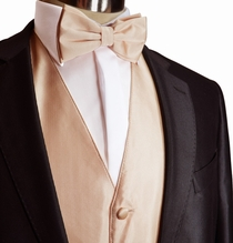 Coral Tuxedo Vest and Bow Tie Set