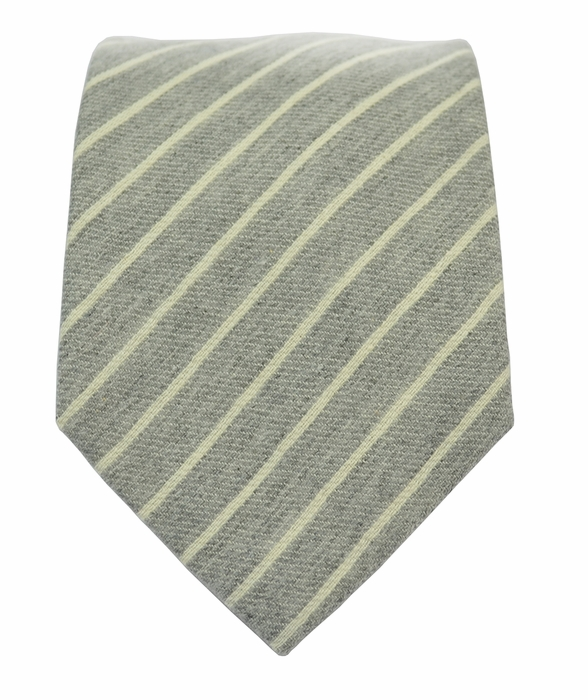 40dcbc60028ec Cream Striped Linen Tie and Pocket Square by Paul Malone