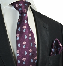 Dark Grape Tie and Pocket Square Set