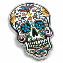 Day of the Dead Skull Lapel Pin