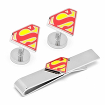 DC Comics Superman Shield Cufflinks Tie Bar Gift Set